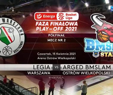 EBL. Legia Warszawa - Arged BMSlam Stal Ostrów Wlkp. 67:80. Skrót meczu (POLSAT SPORT). Wideo