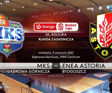 EBL. MKS Dąbrowa Górnicza - Enea Astoria Bydgoszcz 89-86. Skrót meczu (POLSAT SPORT). Wideo