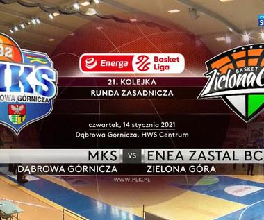 EBL. MKS Dąbrowa Górnicza - Enea Zastal BC Zielona Góra 69:97. Skrót meczu (POLSAT SPORT). Wideo