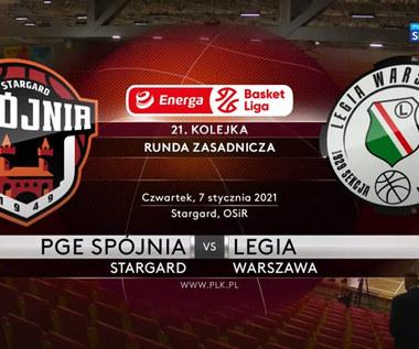EBL. PGE Spójnia Stargard - Legia Warszawa 73:79. Skrót meczu (POLSAT SPORT). Wideo