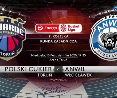 EBL: Polski Cukier Toruń - Anwil Włocławek 94-85. Skrót meczu