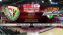 EBL. WKS Śląsk Wrocław - Enea Zastal BC Zielona Góra 75:80. Skrót meczu (POLSAT SPORT). Wideo