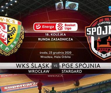 EBL. WKS Śląsk Wrocław - PGE Spójnia Stargard 95-94. Skrót meczu (POLSAT SPORT). Wideo