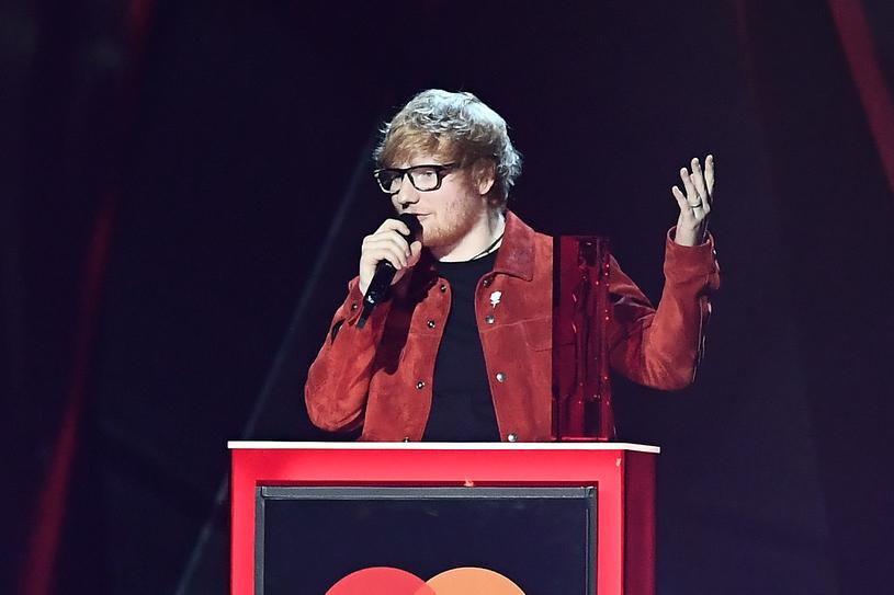 Ed Sheeran na BRIT Awards 2018 /Gareth Cattermole /Getty Images
