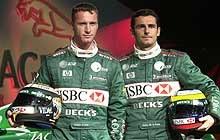 Eddie Irvine i Pedro de la Rosa /poboczem.pl