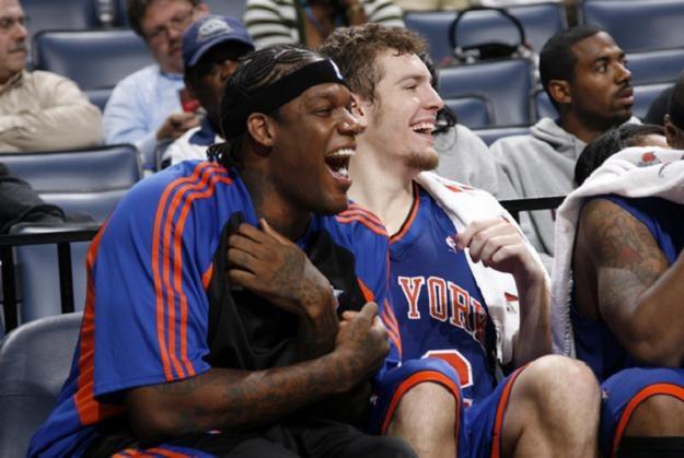 Eddy Curry (z lewej) może zasilić Miami Heat /AFP