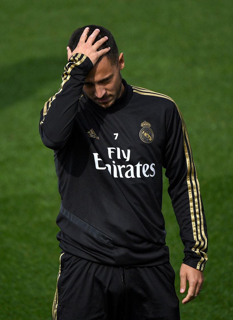 Eden Hazard podczas treningu Realu Madryt /PIERRE-PHILIPPE MARCOU /AFP