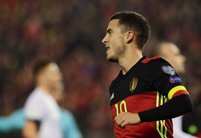 Eden Hazard w barwach reprezentacji Belgii /AFP