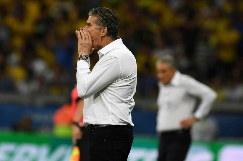 Edgardo Bauza podczas spotkania z Brazylią /AFP
