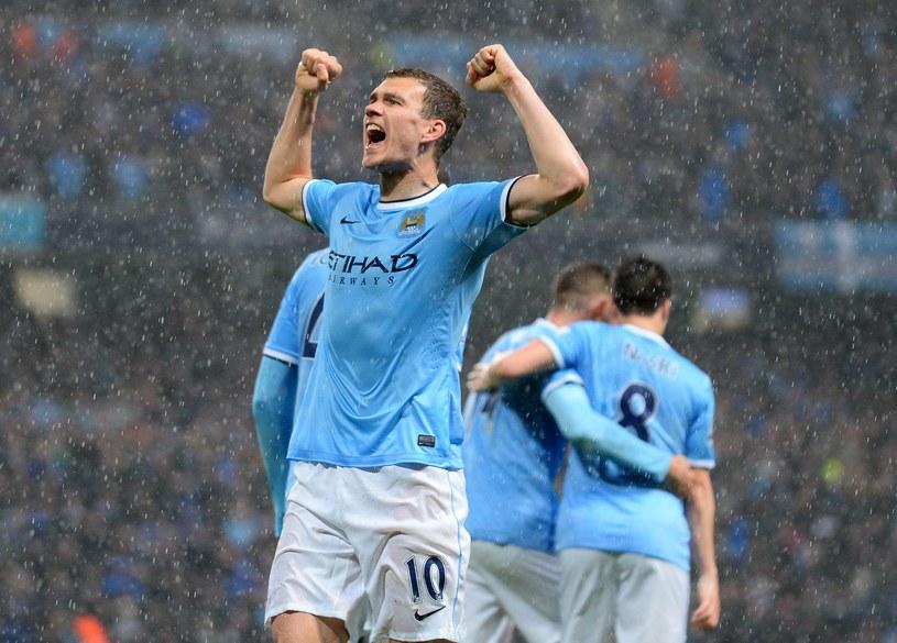 Edin Dżeko, napastnik Manchesteru City /AFP