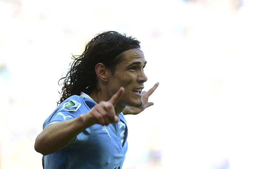Edinson Cavani cieszy się ze zdobycia gola dla Urugwaju /AFP