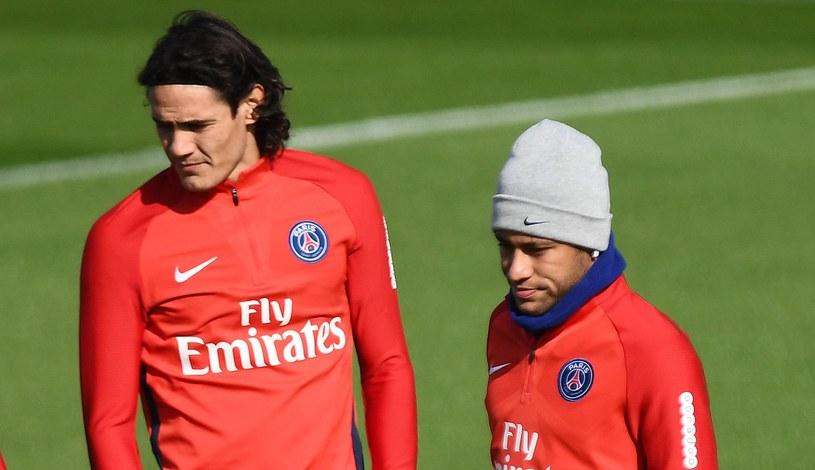Edinson Cavani (L) i Neymar /AFP