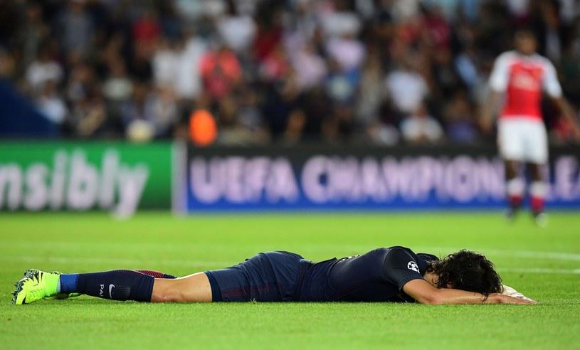 Edinson Cavani po spotkaniu z Arsenalem mógł być załamani /AFP