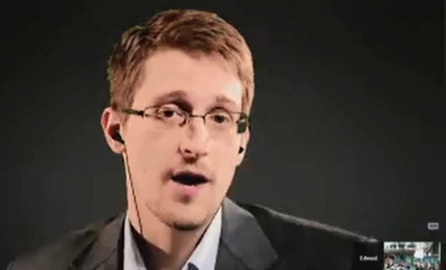 Edrward Snowden / COUNCIL OF EUROPE / HANDOUT    /PAP/EPA