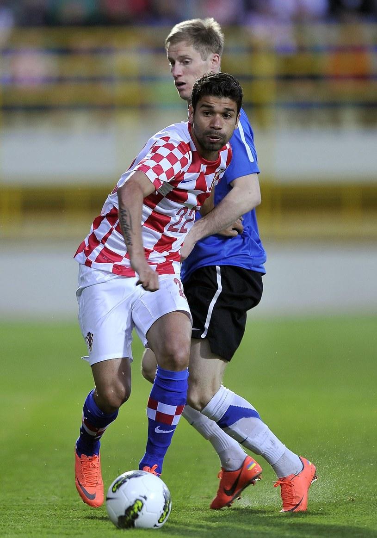 Eduardo Da Silva w barwach reprezentacji Chorwacji /AFP