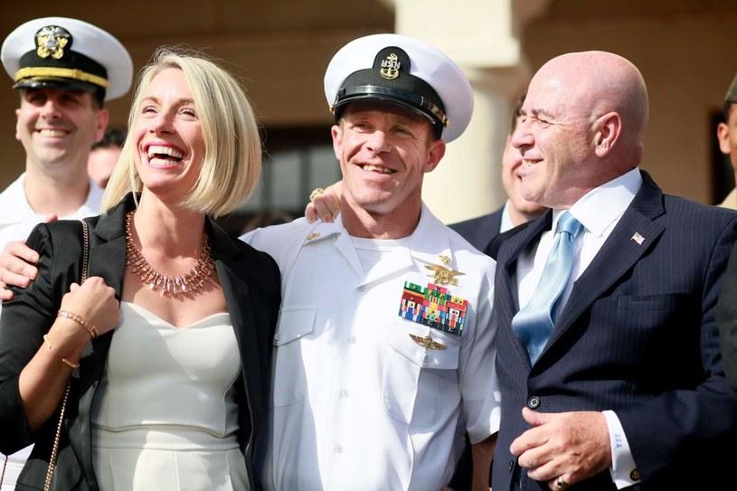 Edward Gallagher z żoną Andreą /AFP