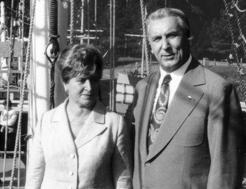 Edward Gierek i żona Stanisława, rok 1973, zdjęcie wykonane podczas oficjalnej wizyty w USA /Jan Morek /Agencja FORUM