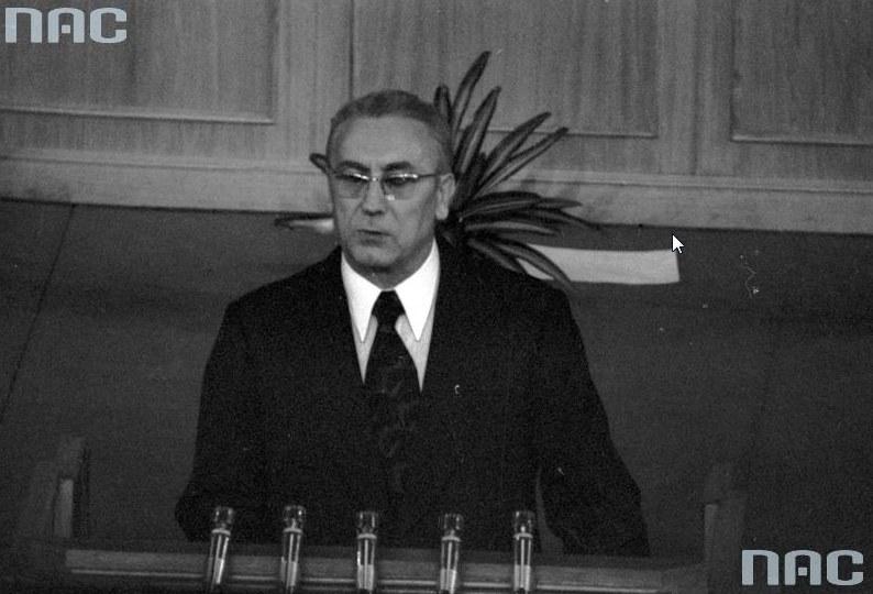 """Edward Gierek: """"Socjalizm jest ustrojem, który nie zna kryzysów"""" /Z archiwum Narodowego Archiwum Cyfrowego"""