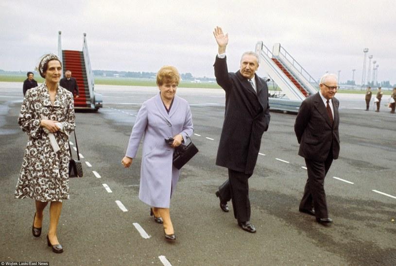 Edward Gierek z żoną często latali na zagraniczne wojaże /- /East News