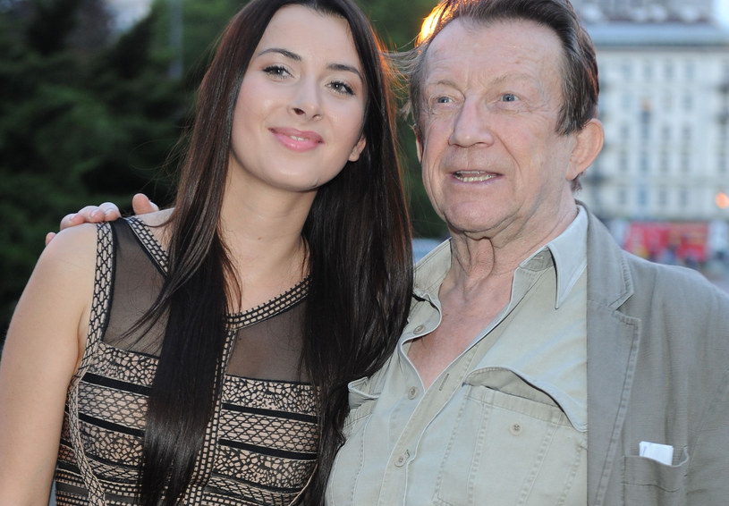 Edward Linde-Lubaszenko z córką /MWMedia