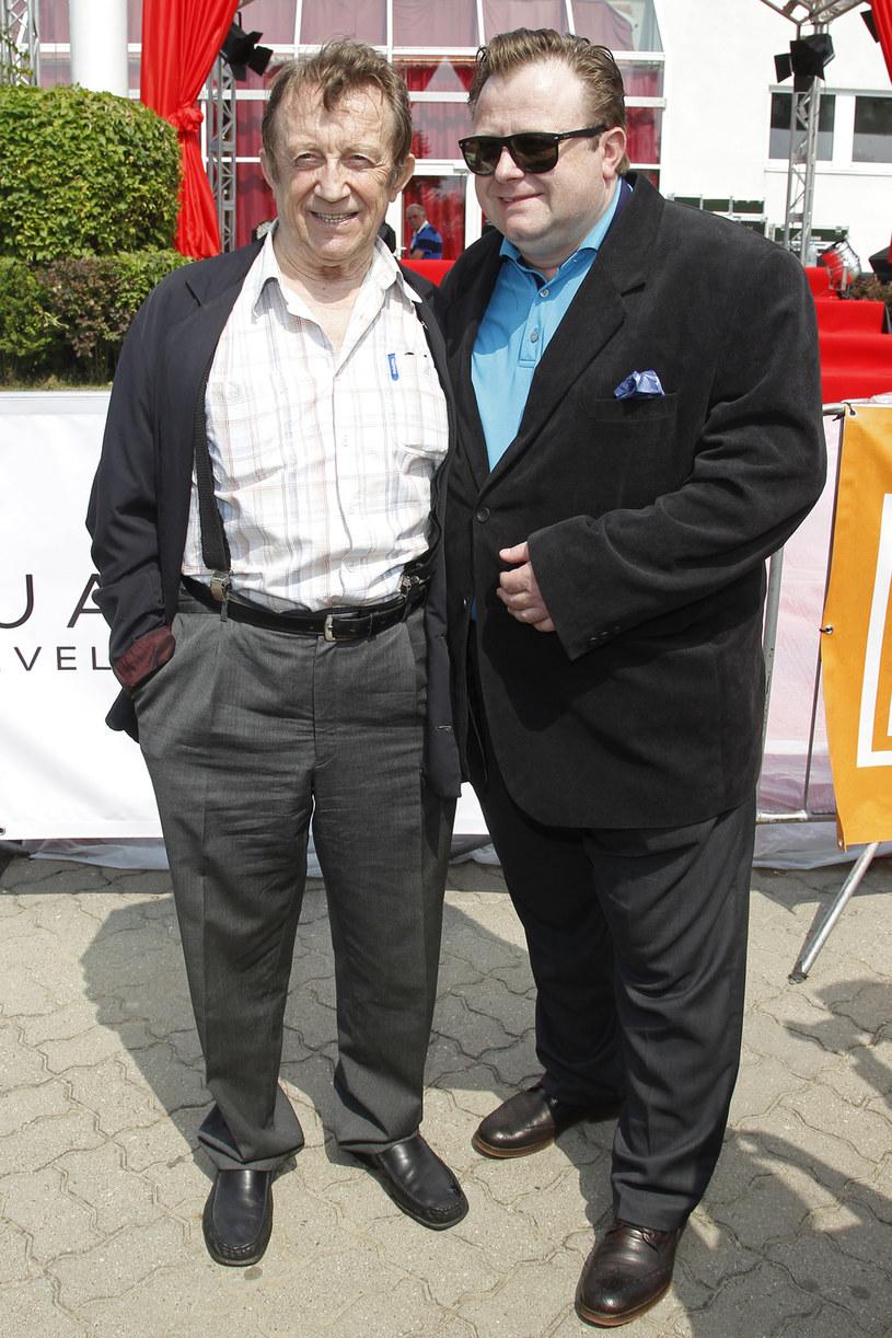 Edward Linde-Lubaszenko z synem Olafem /Engelbrecht /AKPA