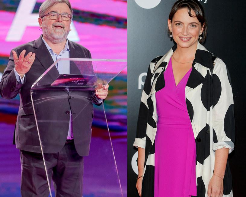 Edward Miszczak i Anna Cieślak na ramówce TVN-u /Podlewski /AKPA
