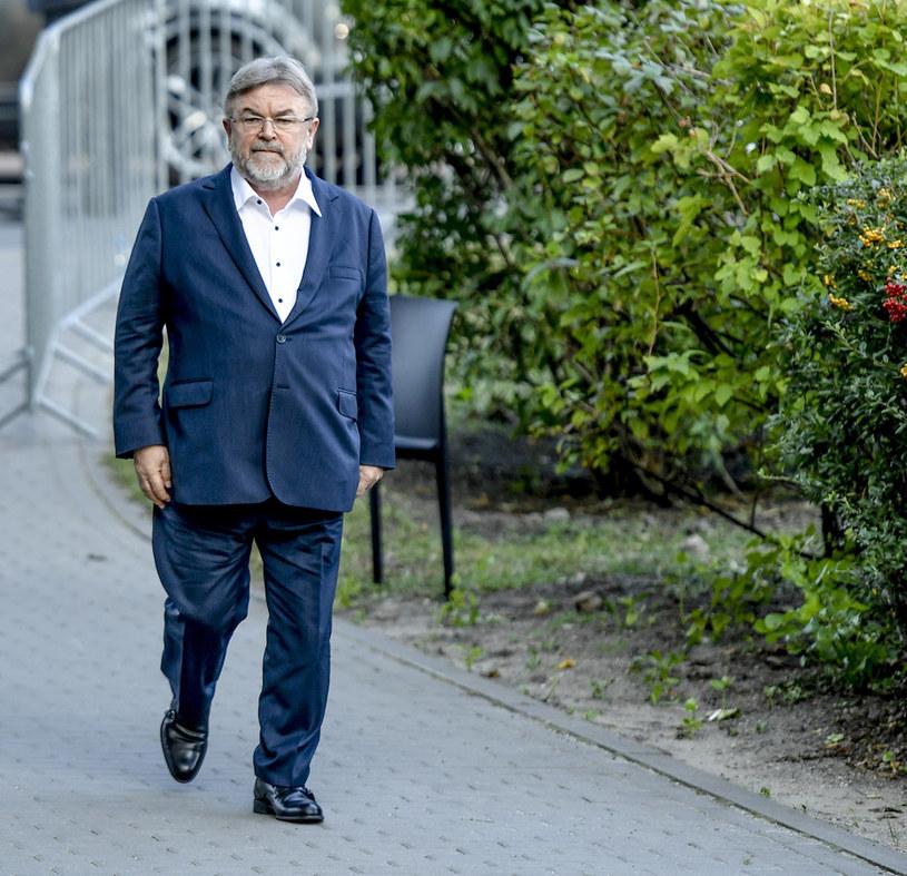 Edward Miszczak na pogrzebie Piotra Woźniaka-Staraka /Norbert Nieznanicki