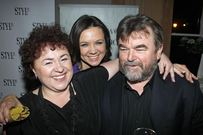 Edward Miszczak z żoną i Kingą /Engelbrecht /AKPA
