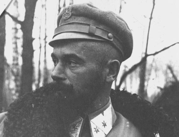 Edward Rydz-Śmigły jako oficer I Brygady Legionów /Z archiwum Narodowego Archiwum Cyfrowego