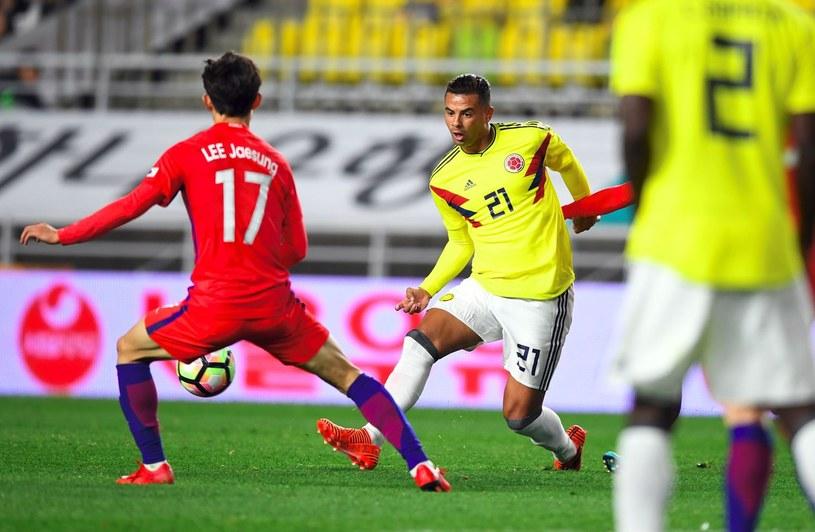 Edwin Cardona (P) z reprezentacji Kolumbii /AFP