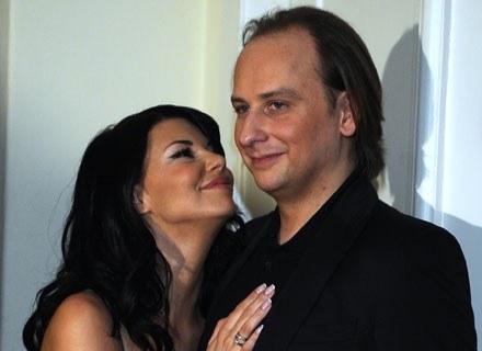 Edyta Górniak i Dariusz Krupa - zdjęcie z roku 2008, fot. Andras Szilagyi /MWMedia