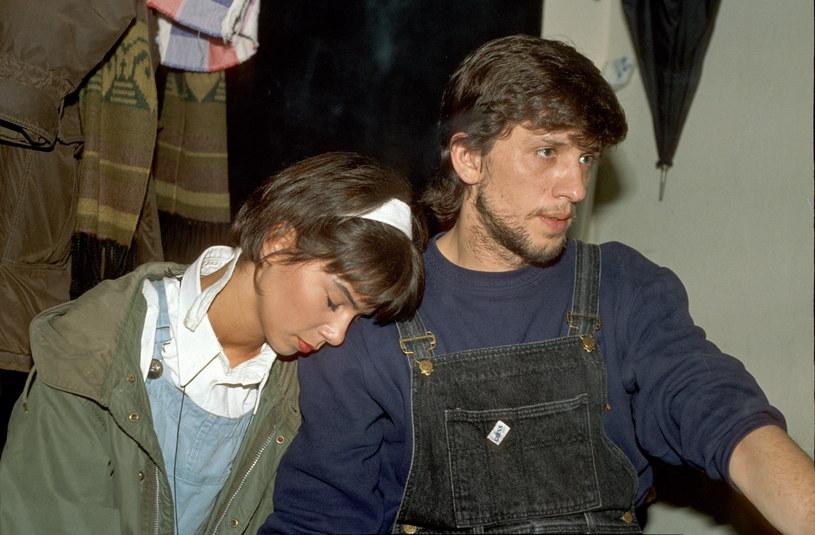 Edyta Górniak i Janusz Józefowicz w 1995 roku /Konrad Kalbarczyk  /Agencja FORUM