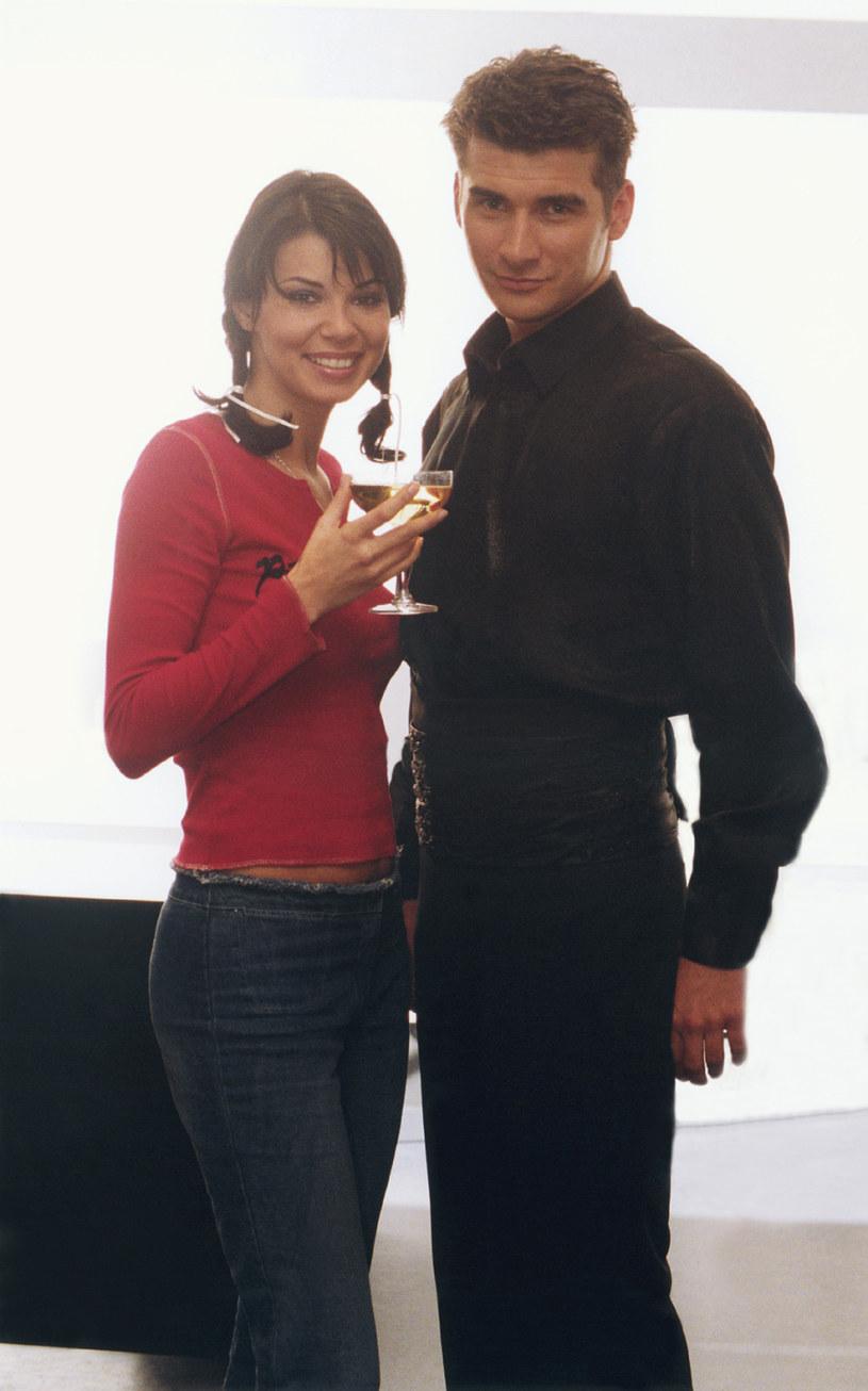 Edyta Górniak i Tomasz Kammel w 2001 roku. /Niemiec /AKPA