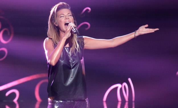 """Edyta Górniak podczas finału trzeciej edycji """"X Factor"""" - fot. Paweł Wrzecion /MWMedia"""