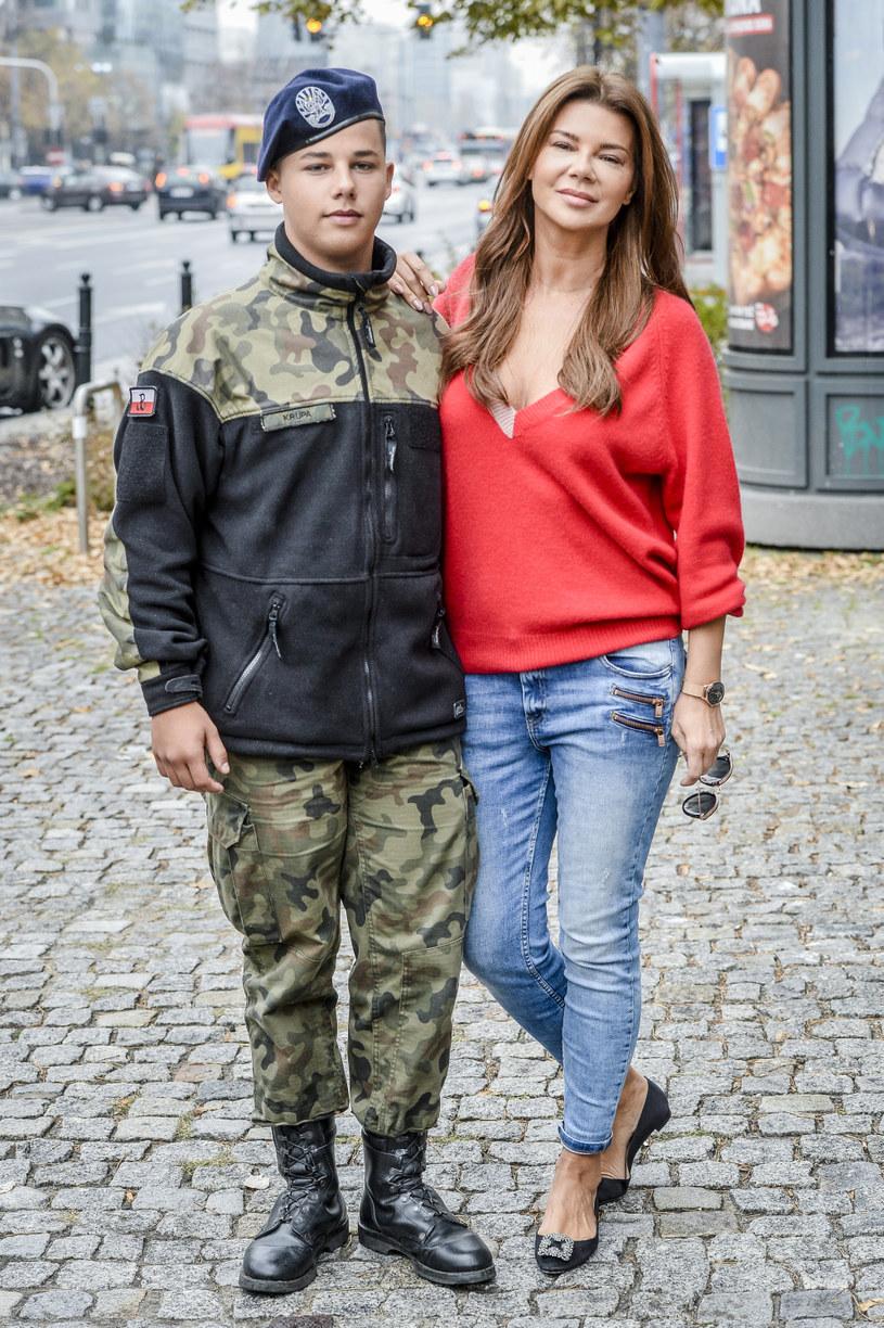 Edyta Górniak z Allanem /AKPA