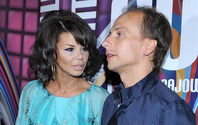 Edyta Górniak z byłym mężem, Dariuszem Krupą. /Andras Szilagyi /MWMedia