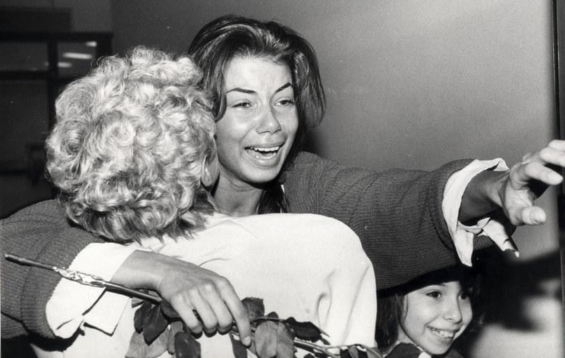 Edyta Górniak z mamą i siostrą, zdjęcie archiwalne /Adam Jagielak /East News