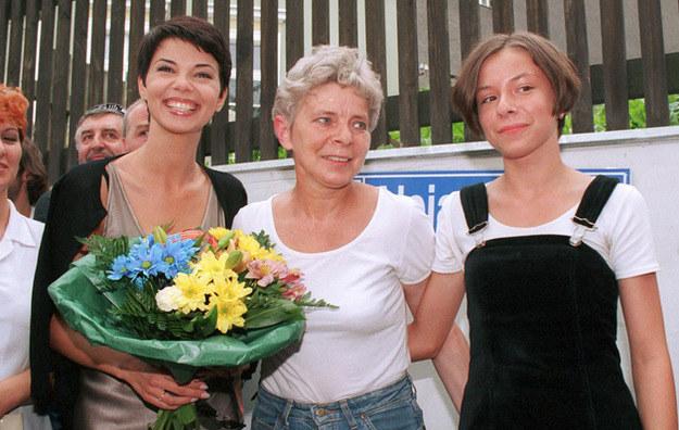 Edyta Górniak z mamą i siostrą /Krzysztof Wojda /Reporter