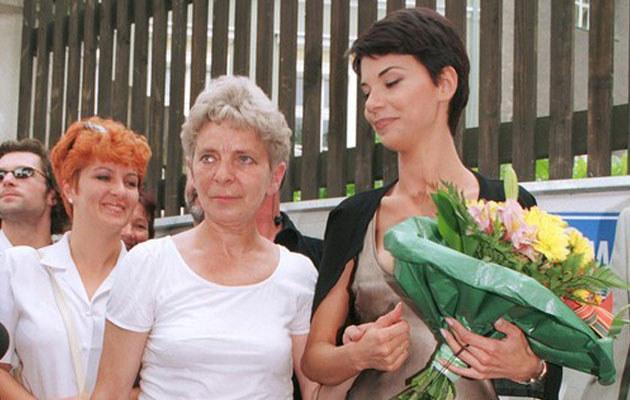 Edyta Górniak z mamą w 1998 roku, fot. Mieczysław Włodarski
