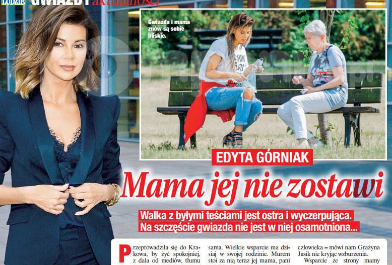 Edyta Górniak z mamą /Świat & Ludzie
