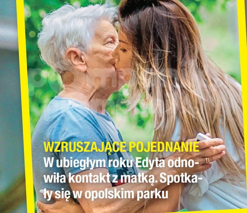 Edyta Górniak z mamą /Na żywo