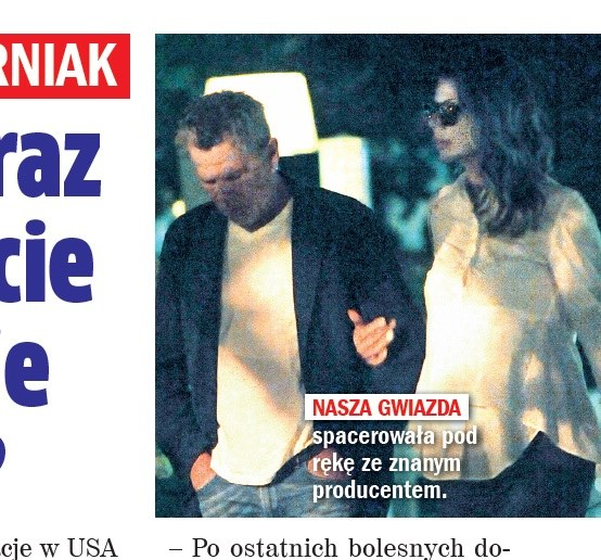 Edyta Górniak z producentem /Rewia