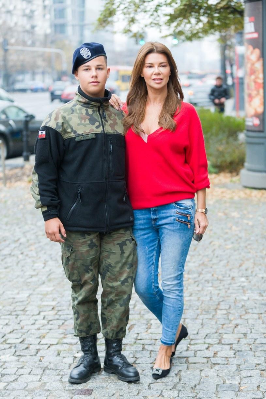 Edyta Górniak z synem Allanem Krupa, fot. VIPHOTO /East News