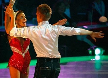 Edyta Herbuś i Marcin Mroczek podczas konkursu tańca Eurowizji. /Getty Images/Flash Press Media
