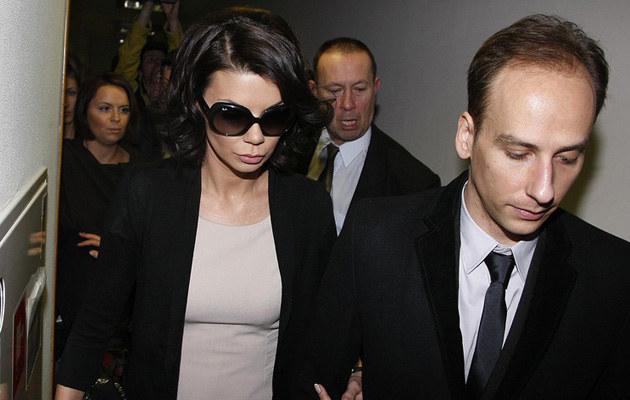 Edyta i Darek nawet w dniu rozwodu byli dla siebie czuli, fot.Wojtalewicz  /AKPA