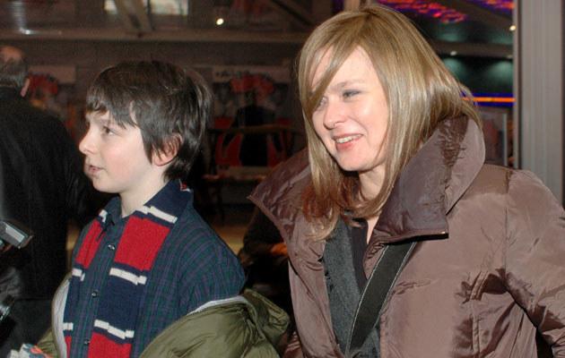 Edyta Jungowska z synem w 2007 roku, fot. Marek Ulatowski  /MWMedia