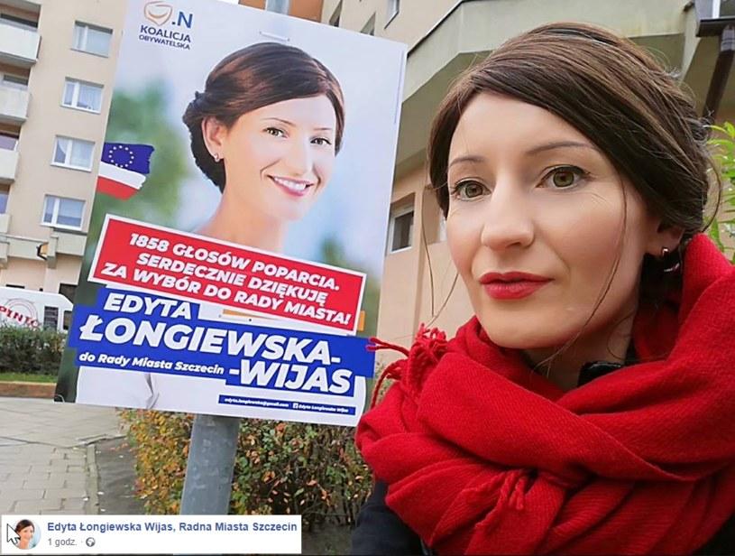 Edyta Łongiewska Wijas /Edyta Łongiewska Wijas, Radna Miasta Szczecin /facebook.com