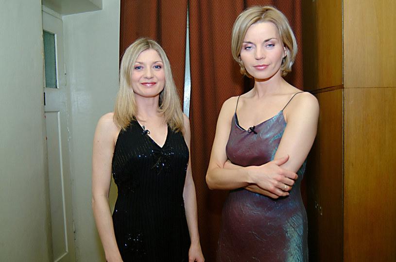 Edyta Olszówka i Małgorzata Foremniak, 2003 rok /Mikulski /AKPA