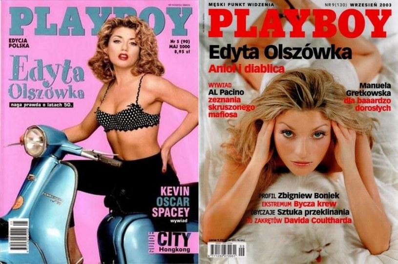 """Edyta Olszówka na okładce """"Playboya"""" pojawiła się dwukrotnie /"""