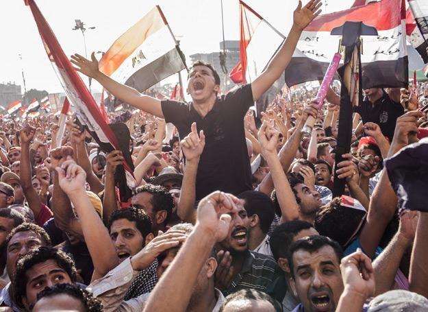 Egipcjanie na placu Tahrir świętują wyniki wyborów prezydenckich - fot. Daniel Berehulak /Getty Images/Flash Press Media